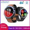 Смарт-часы KOSPET Prime, 4G, 1,6 дюйма, 1260 мА/ч, батарея для распознавания лица, разблокировка, 3 ГБ, 32 ГБ, двойная камера, gps/ГЛОНАСС, Android, часы-телефон д...
