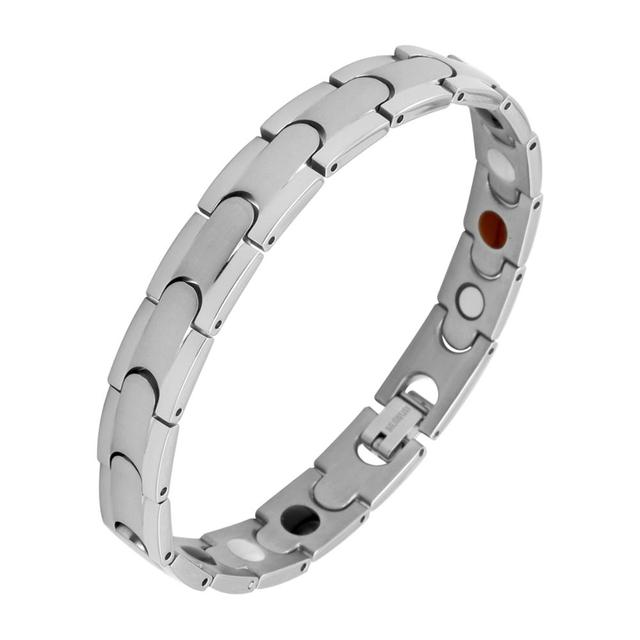 Oktrendy Women Healthy Magnetic Bracelet Stainless Steel Power Therapy Pain Relieve Weight Loss Magnets Bangles For Lovers Gift