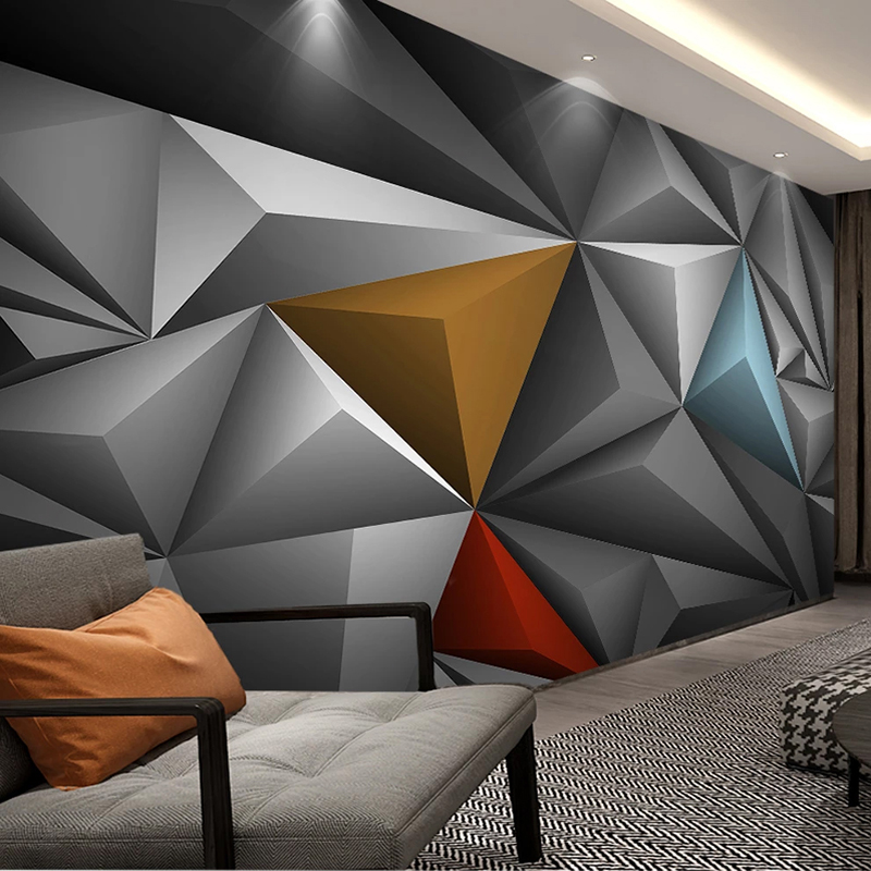 Buy Custom 3d Photo Wallpaper Wall Painting Abstract Art Geometric Mural Creative Bedroom Dining Room Living Room Tv Background Wall Cicig