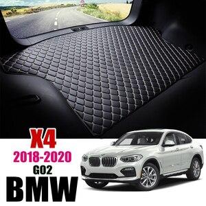 Image 1 - Leder Kofferraum Matte Für BMW X4 G02 2018 2019 2020 Stamm Boot Mat X4 Liner Pad BMW G02 30i fracht pad Teppich Schwanz Cargo Liners