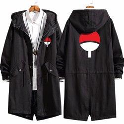 Мужское длинное пальто, аниме Наруто, Свободное пальто с капюшоном, Узумаки, Наруто, косплей, длинный Тренч, куртка, толстовка, утепленное па...