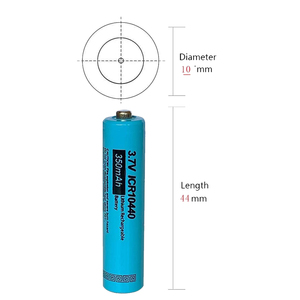 Image 4 - 5 xPKCELL Button Top AAA ICR10440 Liion Lithium Rechargeable Battery 3.7v 10440 For headlamp mechanical mod  torch headlight vap