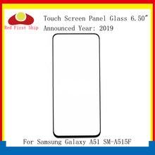 10ชิ้น/ล็อตสำหรับSamsung Galaxy A51 A515 SM A515F SM A515FNแผงสัมผัสด้านหน้าด้านนอกA51 LCDเลนส์Hollow OCAกาว