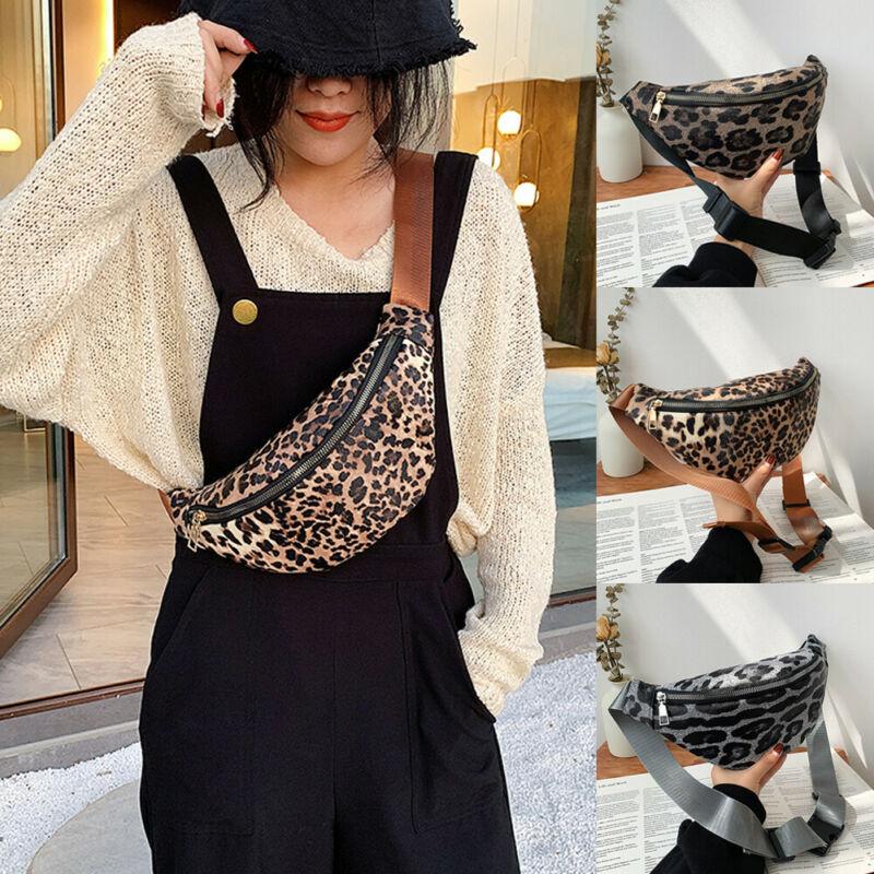 Women Waist Pack  Casual PU Leather Waist Bag Belt Fanny Pack Travel Bag Belt Purse New  /BY