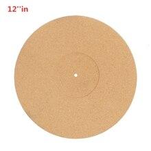 12 인치 코르크 턴테이블 매트 Audiophile 정전기 방지 흔들림 Slipmat LP 비닐 레코드