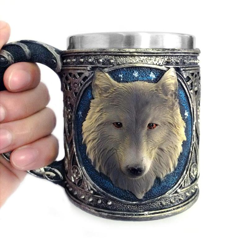 MUG CREATIVE NOVELTY 3D Wolf Mug  Moon Discount