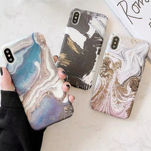 Retro Watercolor ink painting marble hard Phone case for coque iPhone 7 6s 8 Plus xs max case cover for cover iPhone 8 X XR case oaxis inkcase ivy e ink reader for iphone 8 7 6s
