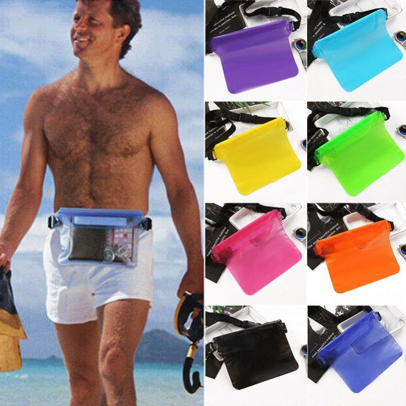 New Waterproof Waist Packs Beach Phone Pouch Bag Dry Swimming Bum Underwater Belt Bags For Male Female PVC Zipper Waist Packs