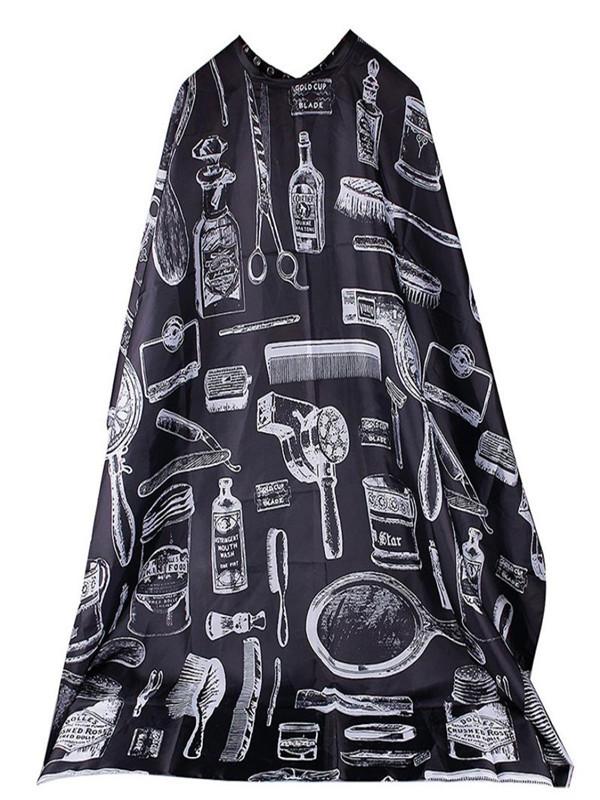 Best Selling 2019 Products Pattern Cutting Hair Waterproof Cloth Salon Barber Cape Hairdressing Hairdresser Apron Haircut Capes