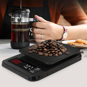 Image 5 - Precision Electronic kitchen scale 5kg/0.1g 10kg/1g LCD Digital Drip Coffee Scale with Timer weight Balance Household scale