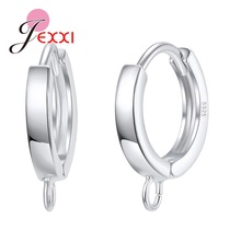 Factory Sale Classic Hoop Earrings Components Fine 925 Sterling Silver Jewelry Jewelry Findings for Jewelry Making cheap JEXXI Clasps Hooks Metal 43P247