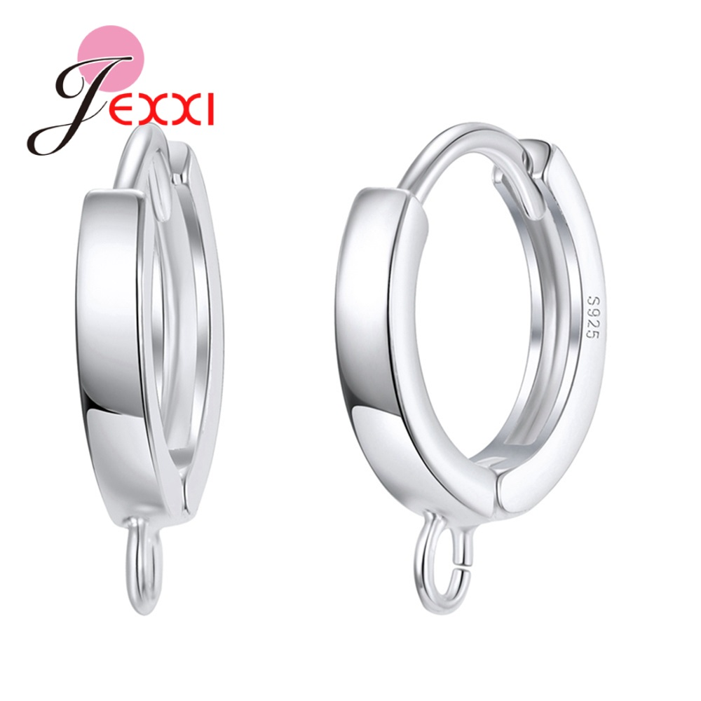 Factory Sale Classic Hoop Earrings Components Fine 925 Sterling Silver Jewelry Jewelry Findings For Jewelry Making