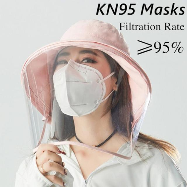 5/10pcs KN95 Valve Mask 5 Layer Flu Anti Fog N95 Protective Masks Ffp2 Respirator PM2.5 Safety Same As KF94 FFP3 Drop Shipping 2
