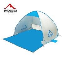 Widesea praia tenda pop up aberto 1-2person sunshelter rápido automático 90% uv-proteção toldo tenda para acampamento pesca pára-sol