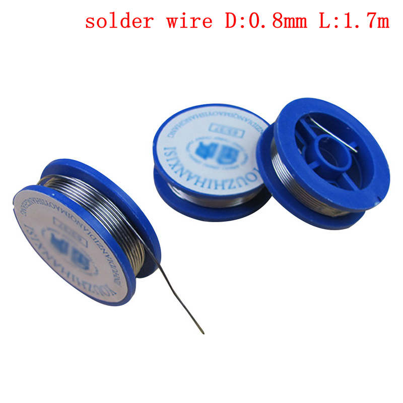 Hot 0.8mm Solder Wire Tin Lead Rosin Core Approx. 38x11mm Flux Content 2.0% Welding Repair Tools For Electrical Soldering