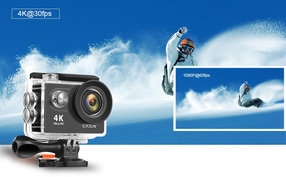 """EKEN H9R/H9 Ultra HD 4 K/30fps WiFi 2,0 """"170D impermeable bajo el agua 3"""