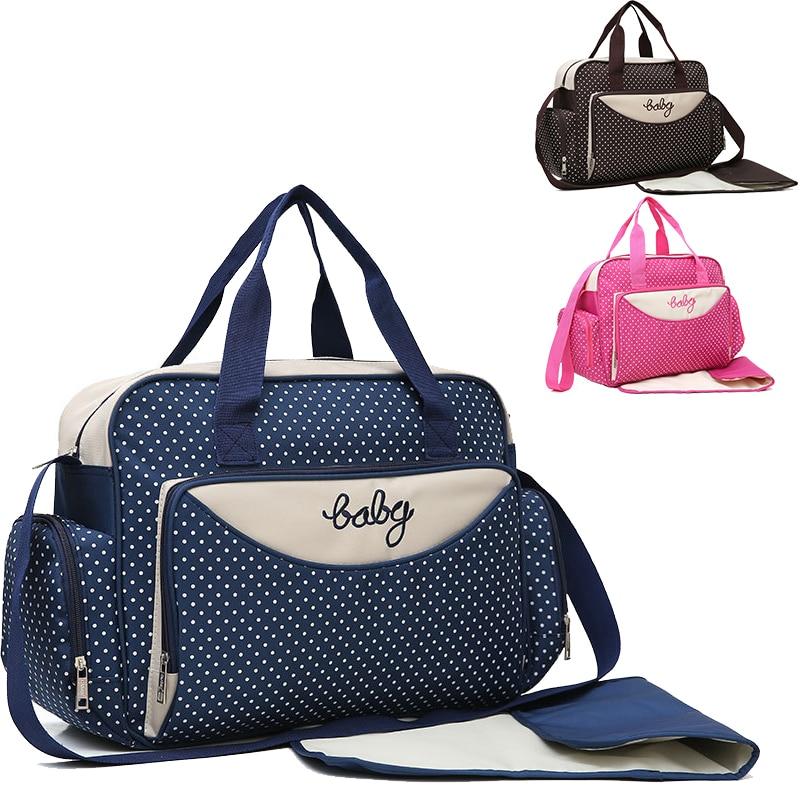 5pcs Set Diaper Bag One Shoulder Baby Bag Women Travel Handbag For Baby Nursing Mummy Maternity Nappy Bag Luiertas