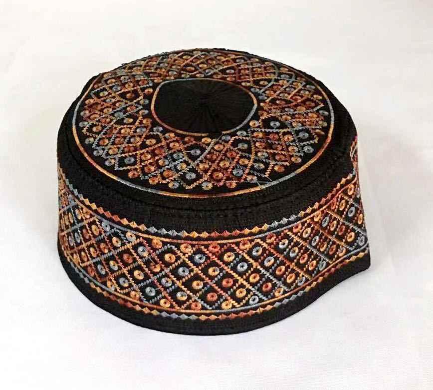 ขายสีดำหมวกมุสลิมชายหมวกอิสลามหมวก turban