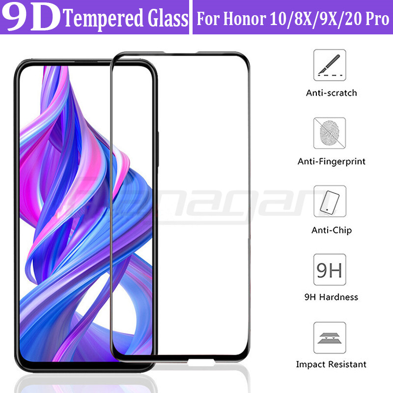 9D Full Cover <font><b>Tempered</b></font> <font><b>Glass</b></font> On For <font><b>Honor</b></font> 10 <font><b>8X</b></font> 9X 20 Pro Screen Protector For Huawei <font><b>Honor</b></font> 9 10 Lite <font><b>8X</b></font> 9X Pro Protective <font><b>Glass</b></font> image