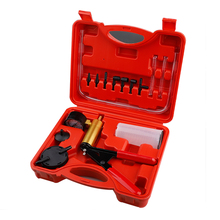 Hand Held Vacuum Pressure Pump Tester Set Brake Fluid Bleeder Bleeding Kit + Box Tool Set