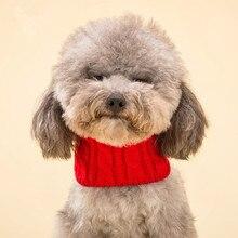 Универсальный шарф из пряжи шарф для собак плюшевый Кот треугольный переплет нагрудный шарф шейный платок украшения в виде домашних животных Теплый
