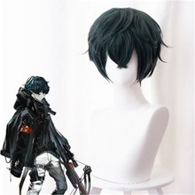 цена на Arknights Villain Boss Cosplay Wig Dark Green Curly Synthesis Hair Party Anime Costume Wigs+ Wig Cap