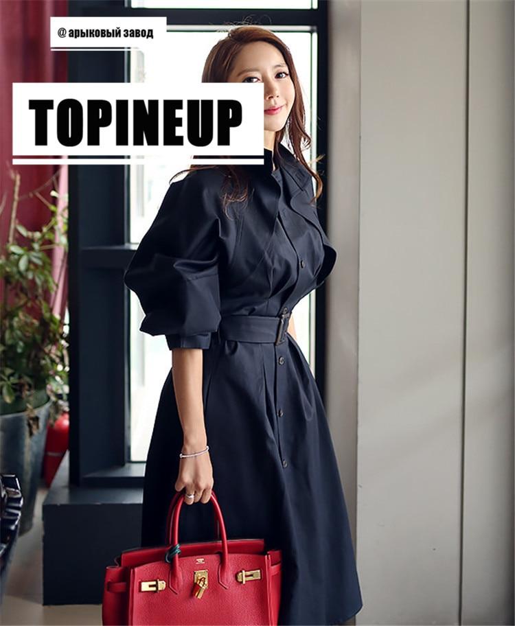 Elegnat Office Ladies Slim White Windbreaker With Belt 2019 Korean Style Stand Collar Womens   Trench   Coat Black Thin Outwear