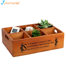 Japanese-Style Six Grid Solid Wood Storage Box Groceries Wooden Nuts Holder Tray for Home Christmas and Wedding Gift