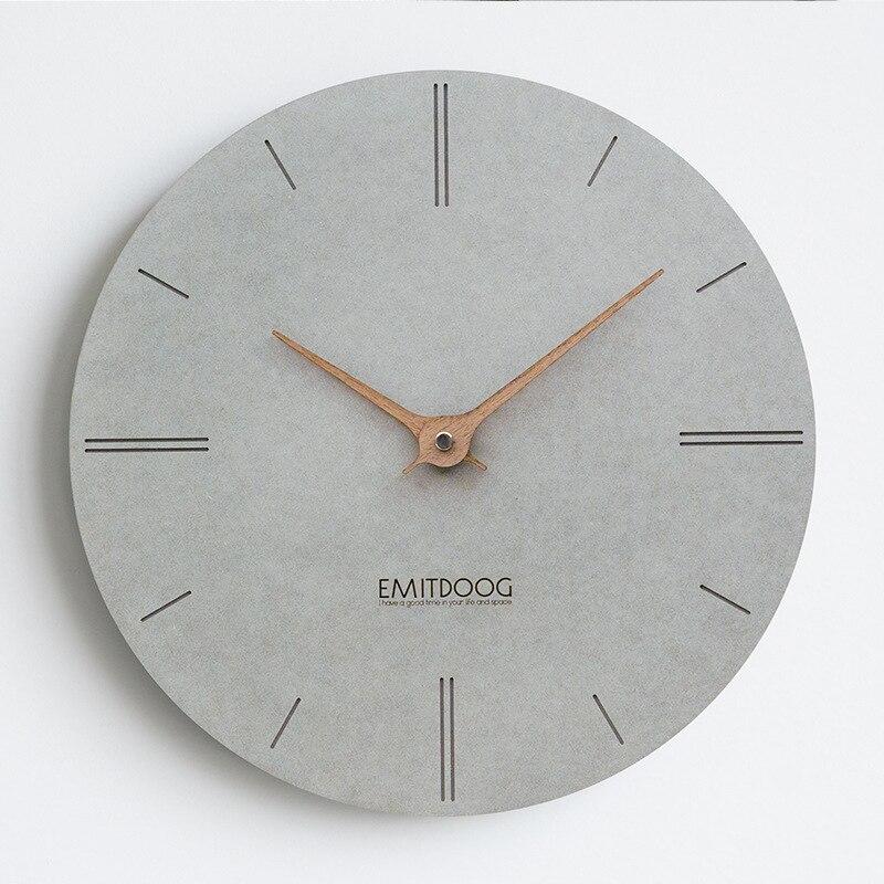 Grande horloge murale en bois Design moderne Simple pour salon nordique bref horloges en bois montre murale décor à la maison silencieux 15 pouces - 5