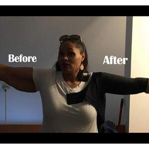 Image 4 - זרוע ריבון עליון חזרה תמיכה כתף סד חגורת יציבת מתקן נשים Shapewear רזה חלקה למעלה חזיית קרדיגן יבול למעלה