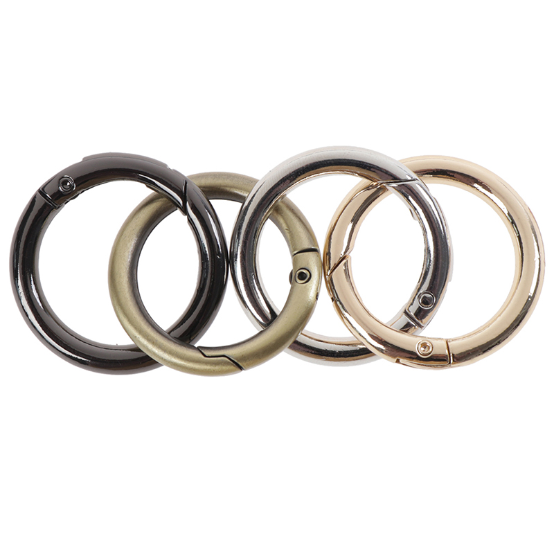 10PCS/Lot Bag Buckle Round Ring Circle Spring Snap For DIY Keyring Hook Handbag Purse Wholesale
