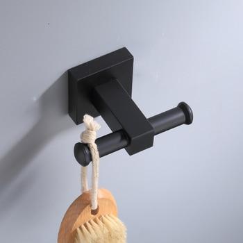 Black Hooks for Bathroom Kitchen Hanger Space Aluminum Wall Hook Towel Hook Robe Hook Bathroom Hardware brass wall hook for bathroom coat clothes hooks gold hook for kitchen robe towel hook