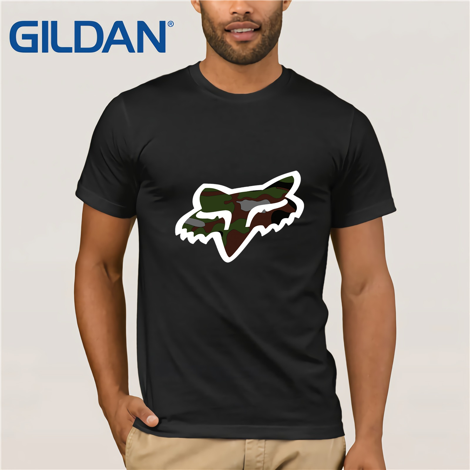 Fox Mtb Ranger Cntr Mens T-shirt - Black All Sizes Mens 2019 Fashion Brand T Shirt O-Neck T-Shirt Tops Tee