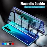 360 магнитный двойной стеклянный чехол для huawei P30 Pro чехлы с закаленным стеклом на Huwei Huawey huawei i P 30 Pro 30Pro P30Pro Coque Capa