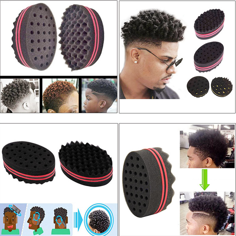 Double Sided Wave-shaped Sponge Brushes Multi-holes Side Braid Twist Curl Wave Hair Sponge Brush Hair Styling Tools Braiders