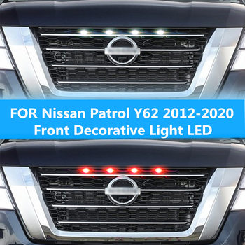 FOR Nissan Patrol Y62 2012-2020 Front Decorative Light LED Warning Daytime Running Modification