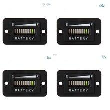 Battery Fuel Gauge Indicator LED 12-24V 36V 48V 72V for Fork Lifts Golf Carts free shipping 12v 24v 36v 48v 72v battery meter digital voltage gauge for electric vehicles forklift truck club car