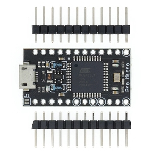 Image 2 - 10ชิ้น/ล็อตกับBootloaderสีดำPro Micro ATmega32U4 5V/16MHzโมดูลController Mega32U4 Mini Leonardoสำหรับarduino