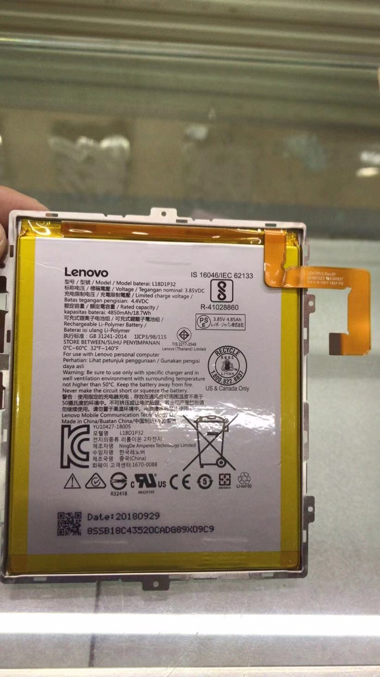 new <font><b>6000mah</b></font> L18D1P32 Replacement Battery For LENOVO Battery image