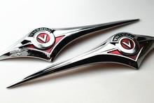 цена на For Kawasaki Vulcan VN 2000 Classic VN2000 Motorcycle Motorbike Chrome Fuel Gas Tank Emblem Badge Decoration 3D Decals Stickers