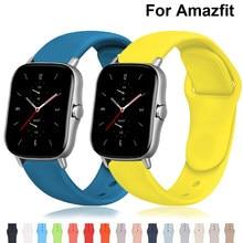 20mm/22mm pulseira de relógio para amazfit gts/2e/gts2/gtr 42mm/47mm/stratos 2/3 pulseira de silicone pulseira esportiva amazfit bip/faixa ritmo