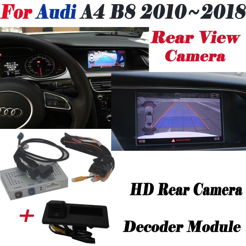 Caméra de recul pour Audi A4 B8 2010 ~ 2018 Interface Adpter Parking caméra de recul arrière connecter écran d'origine décodeur MMI
