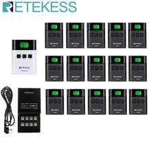цена на RETEKESS TT122 Transmitter+15 Receiver+16 Port Charger Base Tour Guide  for Church Translation System Factory Tour Training