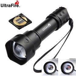 UltraFire открытый UF-T20 Cree IR 850nm 940nm Luz ночного видения масштабируемый светодиодный светильник-вспышка охотничий фонарь