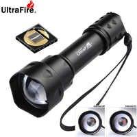 UltraFire UF-T20 al aire libre Cree IR 850nm 940nm Luz de visión nocturna Zoomable LED linterna de caza