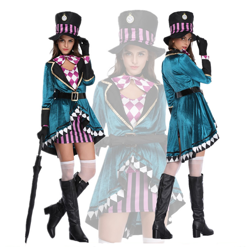 Alice in Wonderland Costumes Woman Magic Cosplay Girls Princess Quess Magic Halloween Cosplay Female Magical Dress