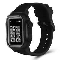 Funda con Correa deportiva de silicona resistente al agua, accesorios para iwatch Apple Watch Series 6 5 4 3 2 SE 42mm 44mm 42 44 MM