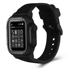 Wasserdichte Silikon Sport Band Strap Fall Abdeckung Für iwatch Apple Uhr Serie 6 5 4 3 2 SE 42mm 44mm 42 44 MM Correa Zubehör