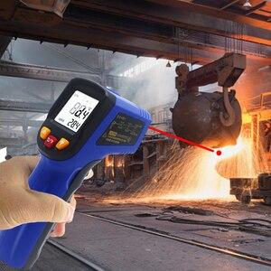 Image 5 - Ketotek ЖК Бесконтактный цифровой лазерный ИК инфракрасный термометр C/F выбор поверхности пирометр заменить GM550