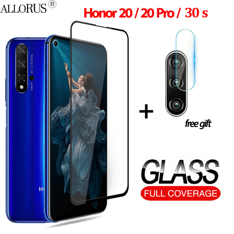 2-in-1 3D Tempered Glass For Huawei Honor 20 Honor 20 Pro Screen Protector Honor 30 S 30s Camera Glass Honor 20 Protective Glass